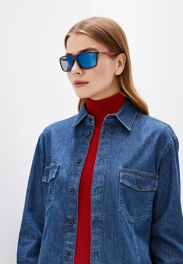 Фото 6 - Очки солнцезащитные Ray-Ban® синего цвета