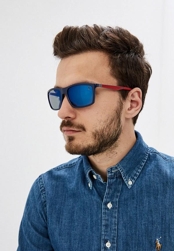Фото 7 - Очки солнцезащитные Ray-Ban® синего цвета