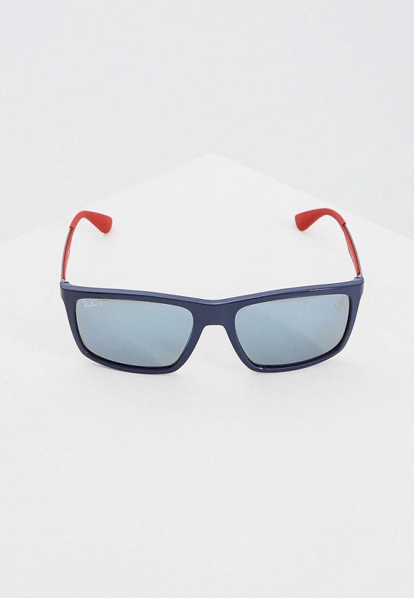 Фото 2 - Очки солнцезащитные Ray-Ban® синего цвета