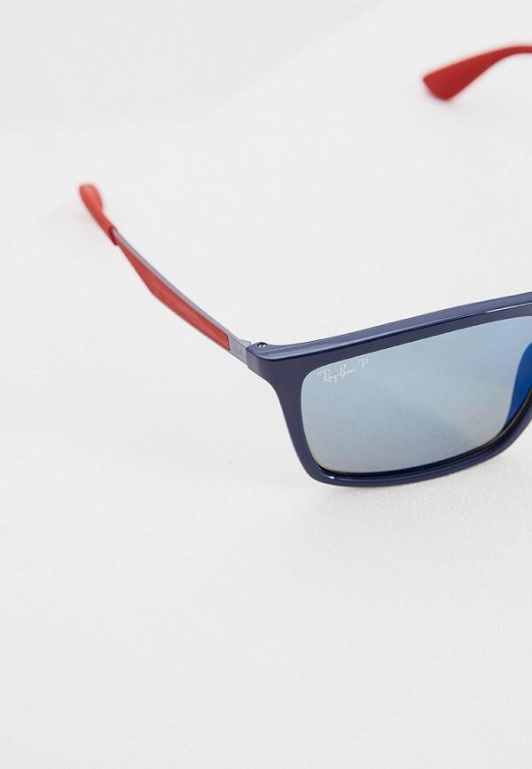 Фото 4 - Очки солнцезащитные Ray-Ban® синего цвета