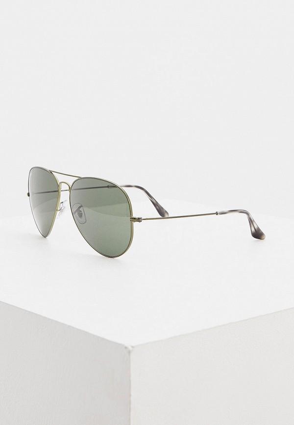 женские авиаторы солнцезащитные очки ray ban, зеленые