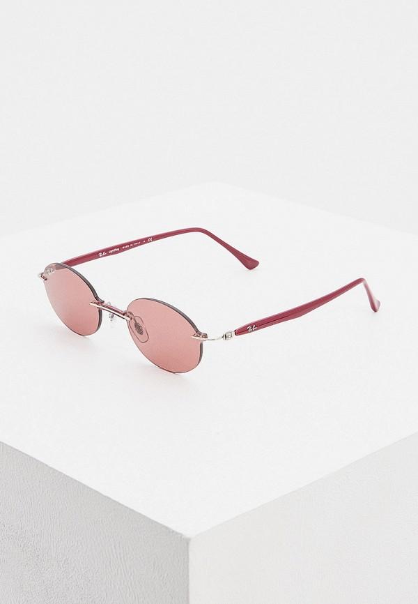 женские круглые солнцезащитные очки ray ban, розовые