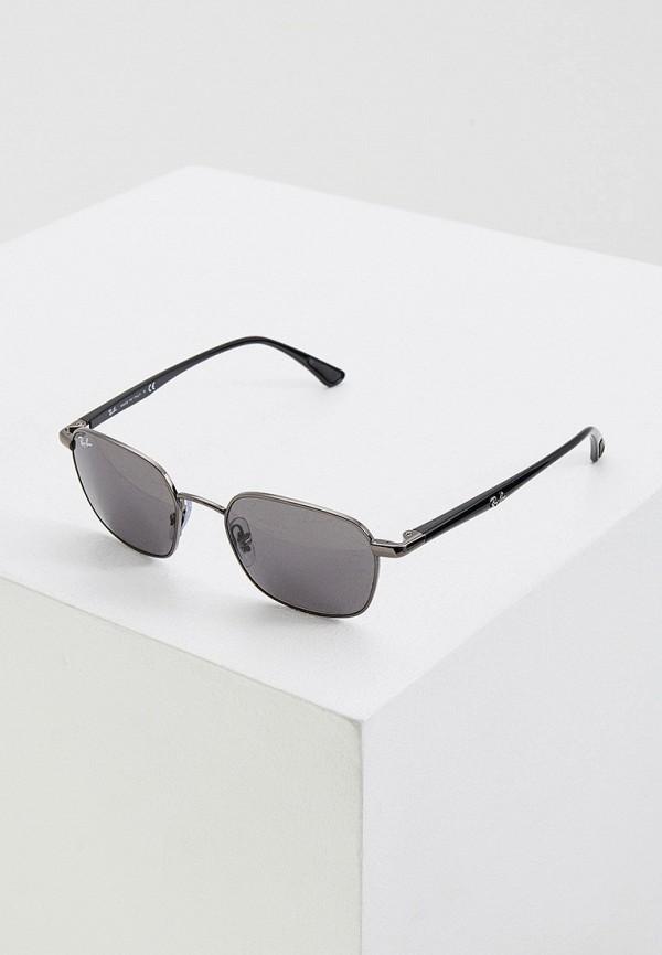 женские солнцезащитные очки ray ban, серебряные
