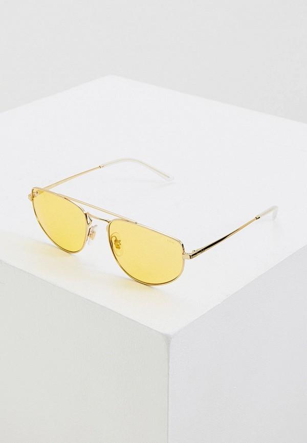 женские круглые солнцезащитные очки ray ban, желтые