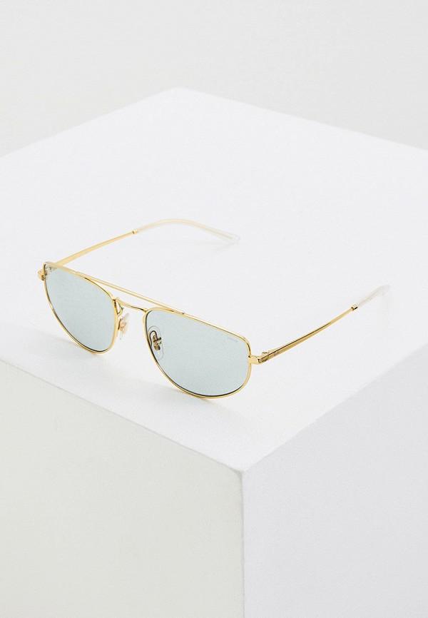 женские авиаторы солнцезащитные очки ray ban, золотые