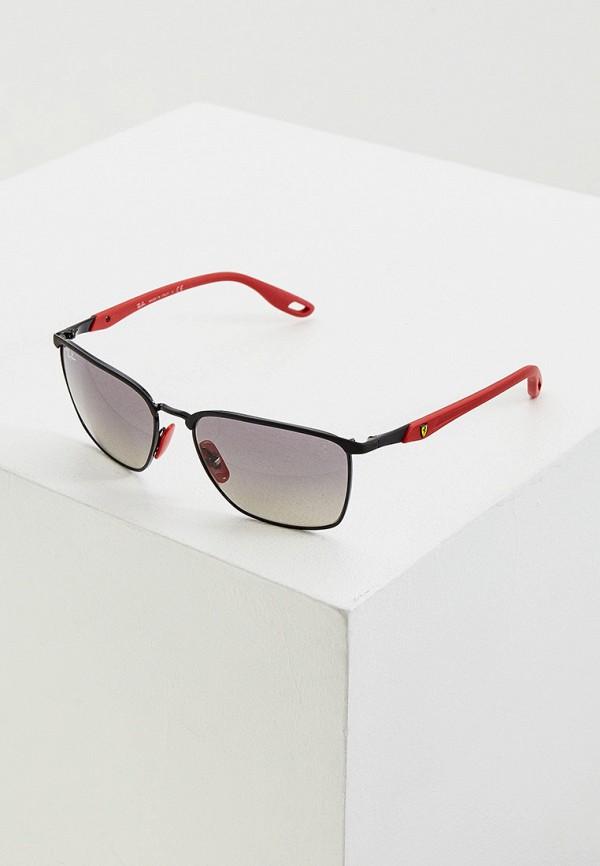 женские квадратные солнцезащитные очки ray ban, черные