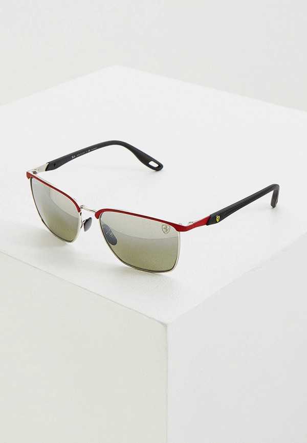 женские квадратные солнцезащитные очки ray ban, красные