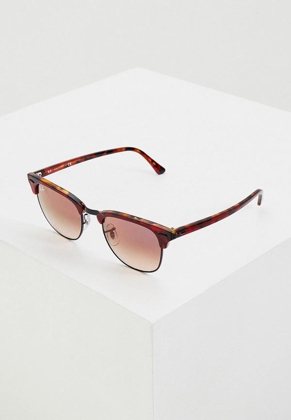 женские солнцезащитные очки ray ban, бордовые