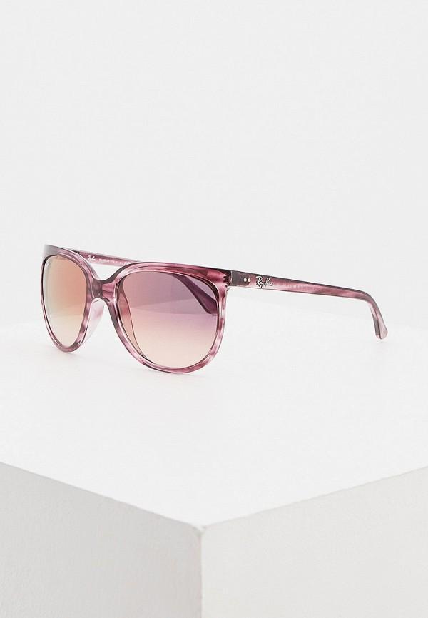 женские квадратные солнцезащитные очки ray ban, фиолетовые