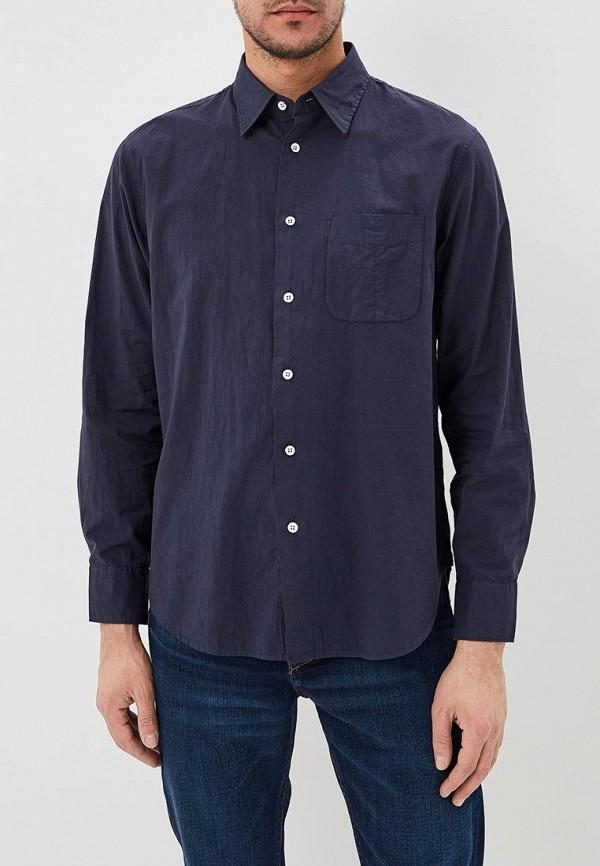 мужская рубашка с длинным рукавом rag & bone, синяя