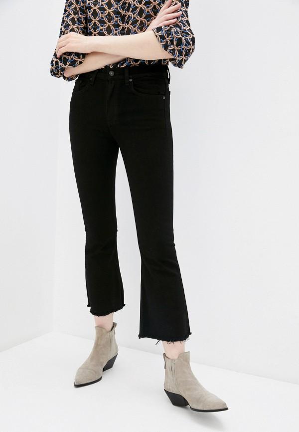 женские джинсы клеш rag & bone, черные