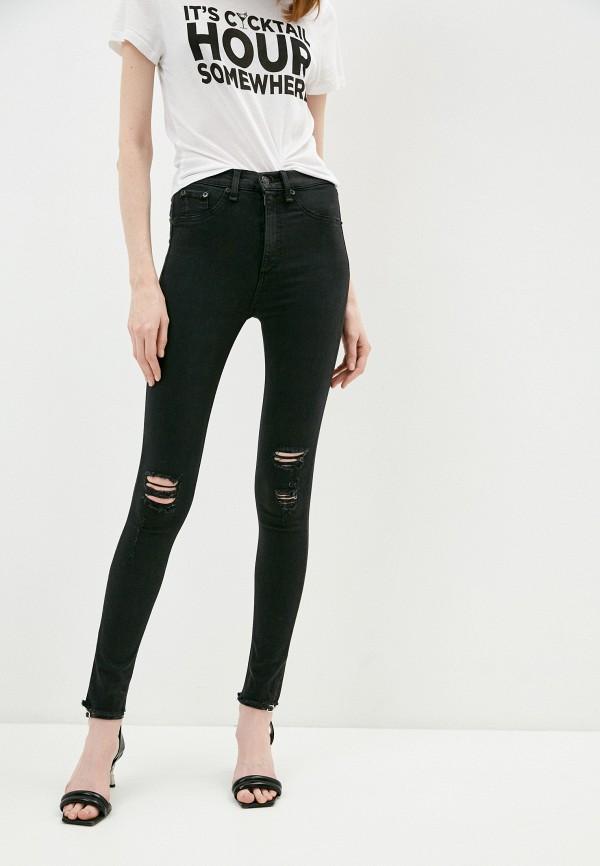 женские джинсы rag & bone, черные
