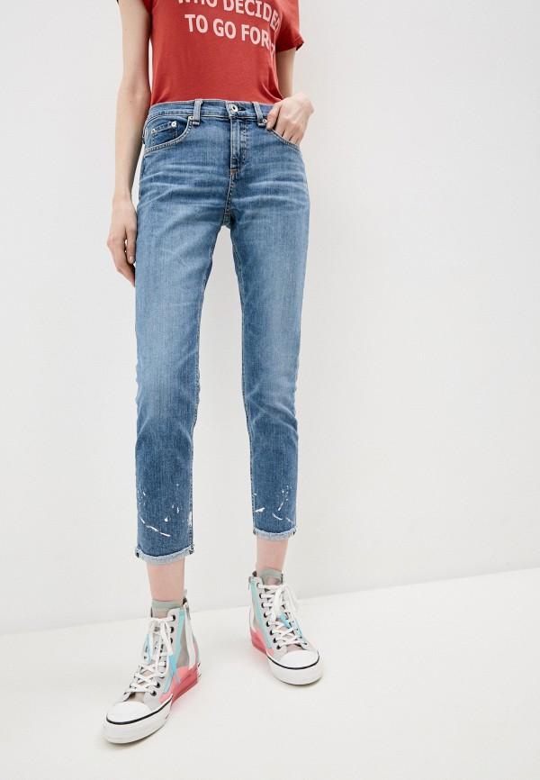 женские джинсы rag & bone, голубые