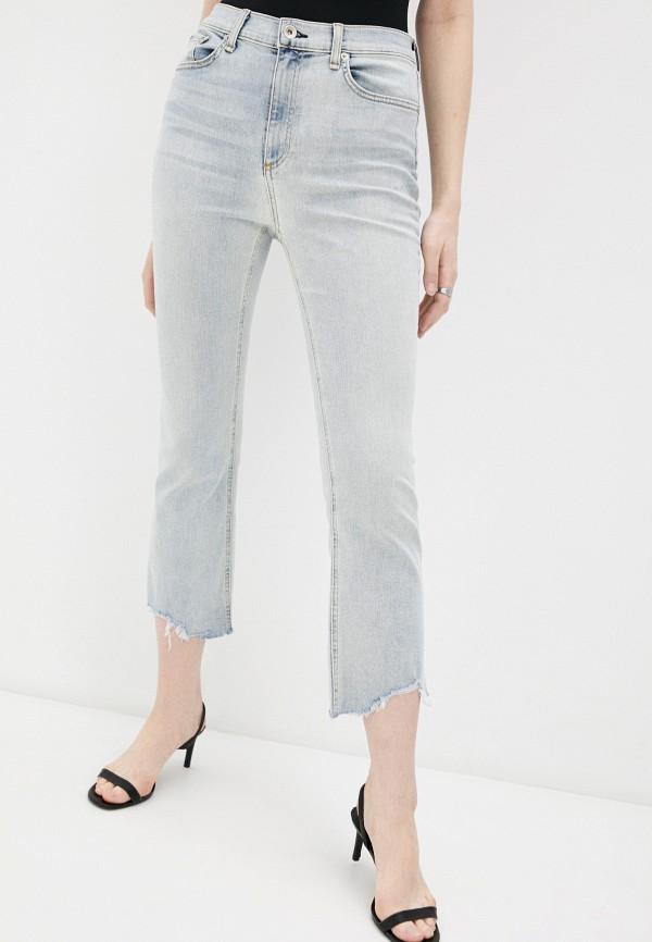 женские прямые джинсы rag & bone, голубые