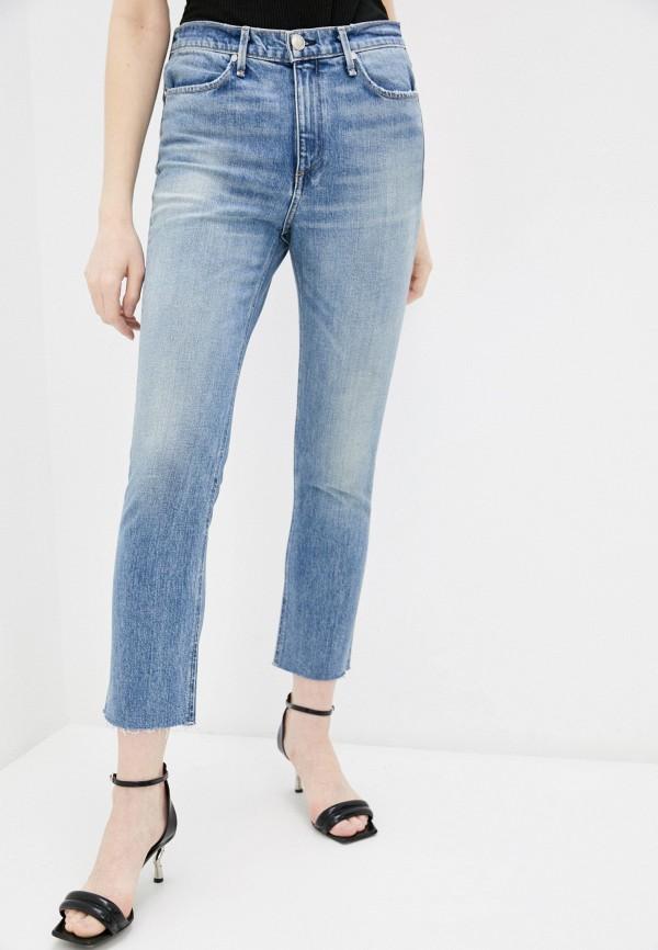женские прямые джинсы rag & bone, синие