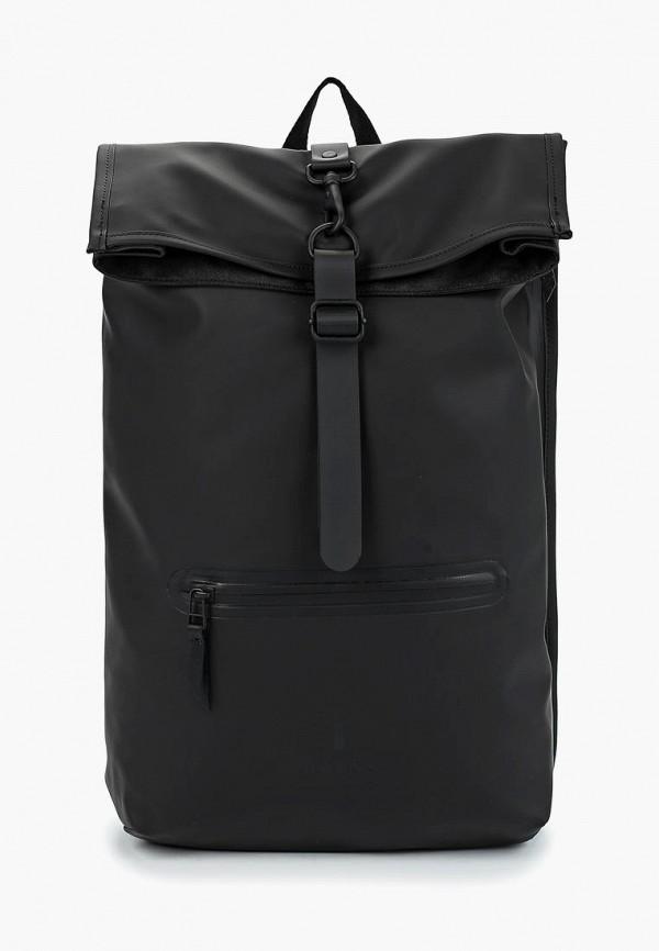 женский рюкзак rains, черный