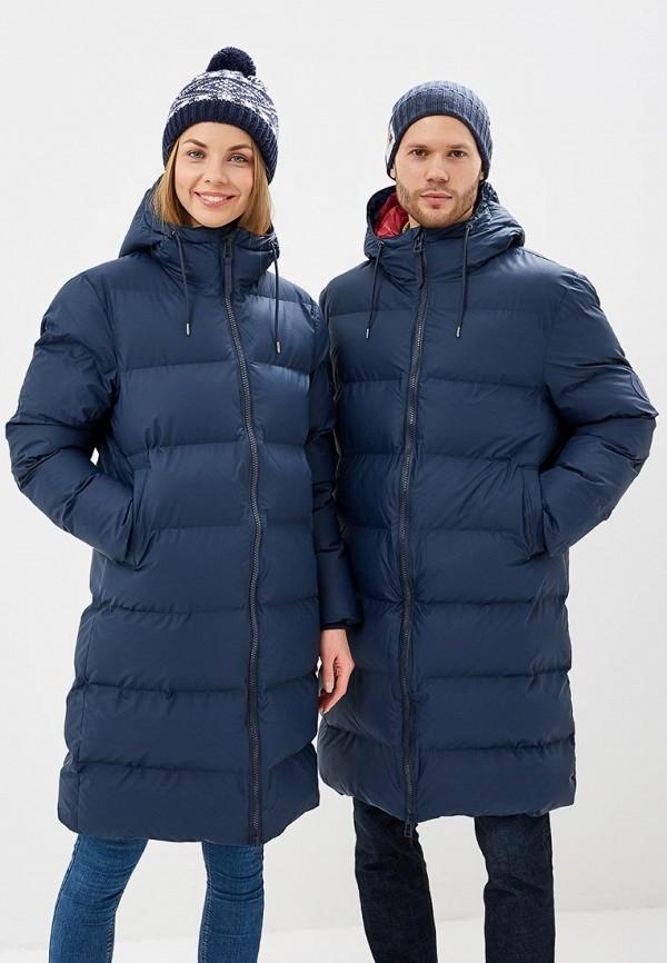 женская куртка rains, синяя