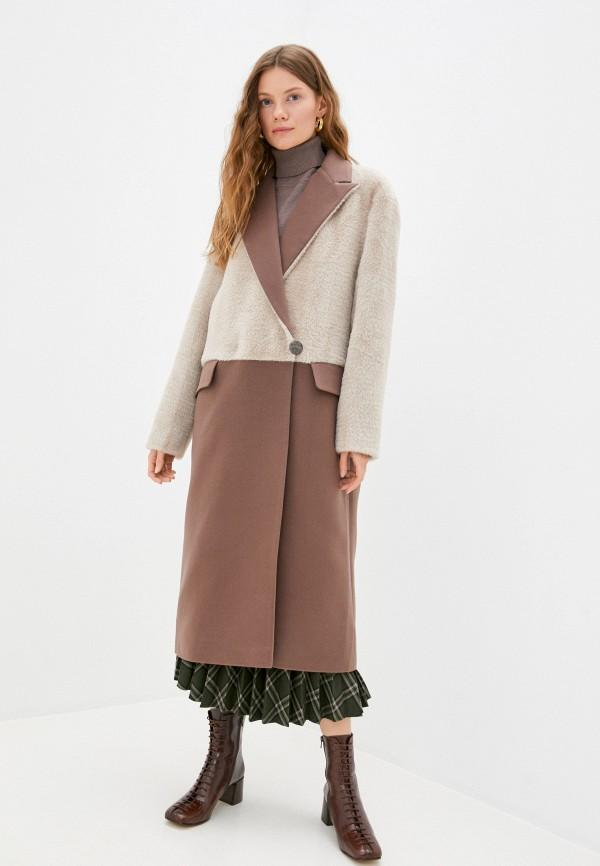 женское пальто rainrain, коричневое