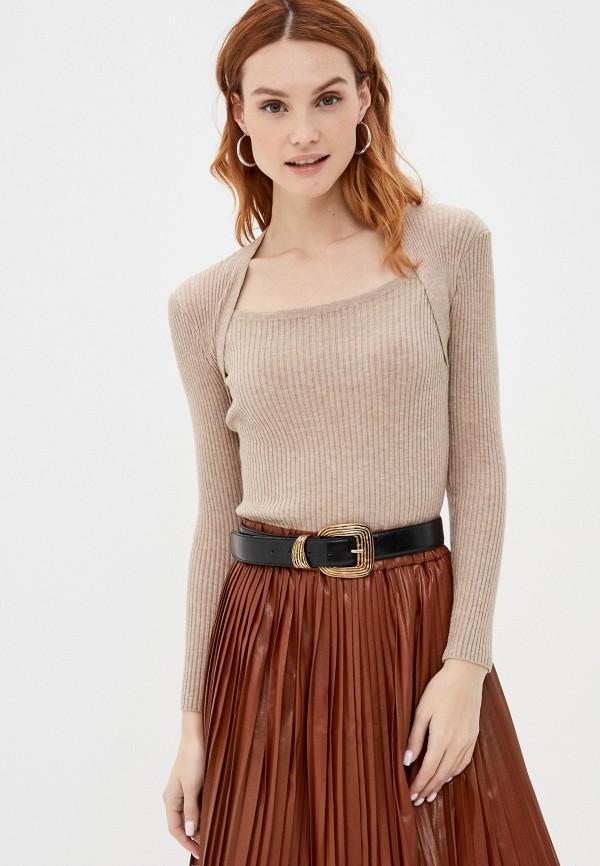 женский джемпер rainrain, коричневый