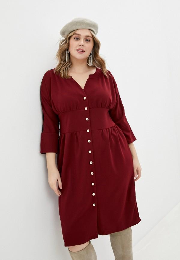 женское повседневные платье rainrain, бордовое