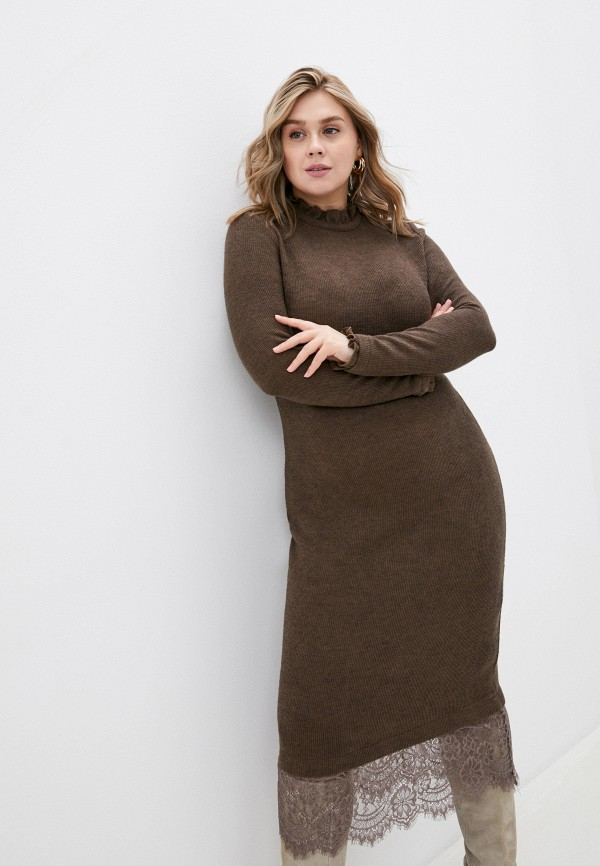 женское платье rainrain, коричневое