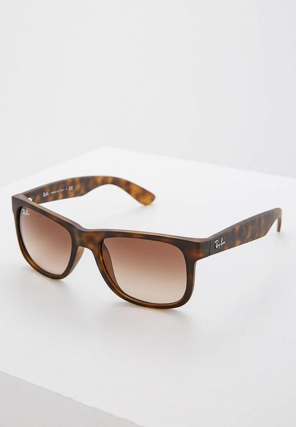мужские солнцезащитные очки ray ban, коричневые