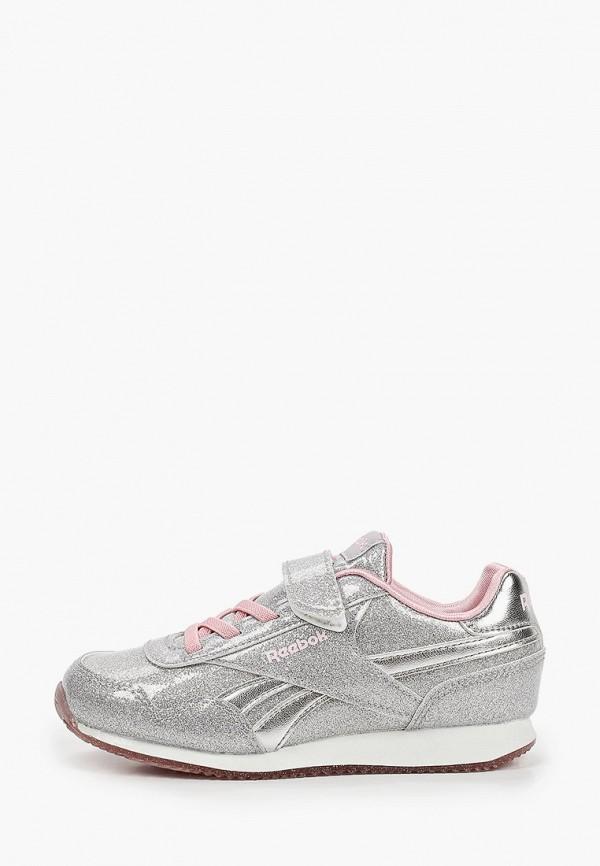 кроссовки reebok classic для девочки, серебряные