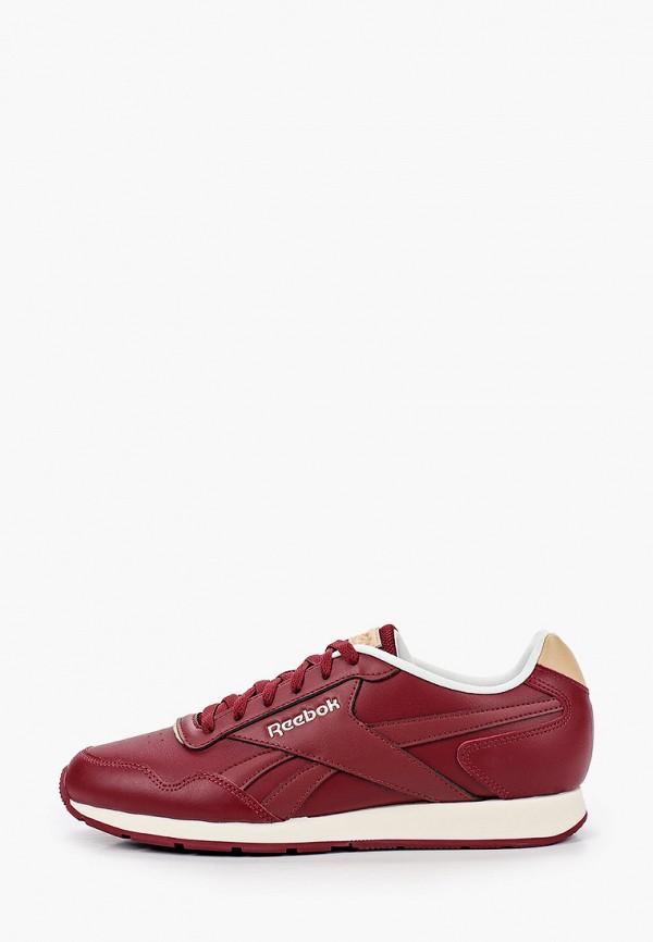 мужские низкие кроссовки reebok classic, бордовые
