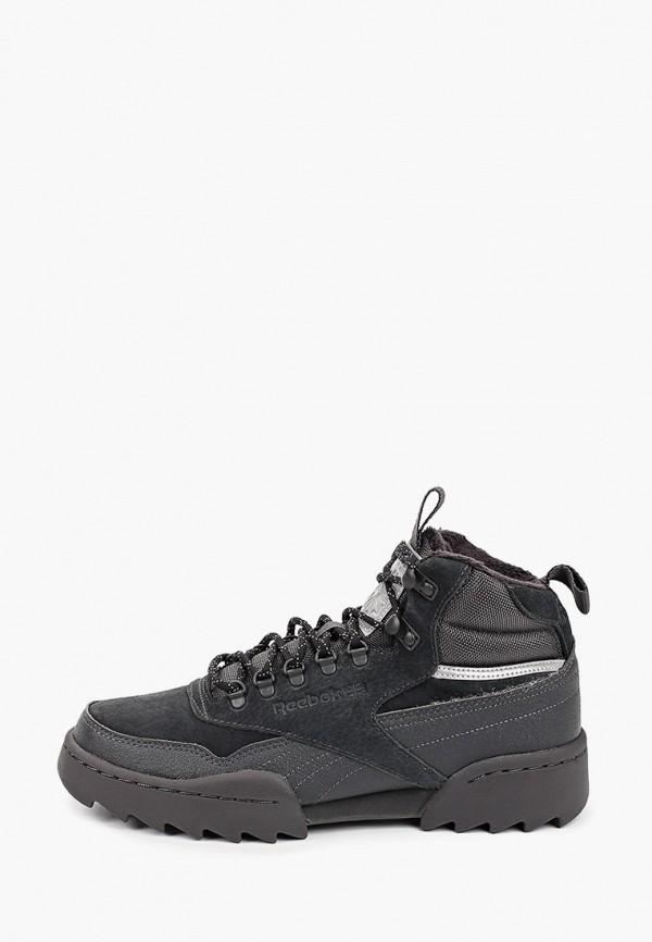 женские высокие кроссовки reebok classic, черные