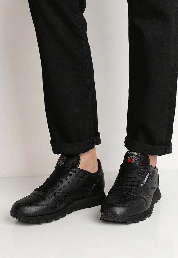Фото 5 - мужские кроссовки Reebok Classics черного цвета