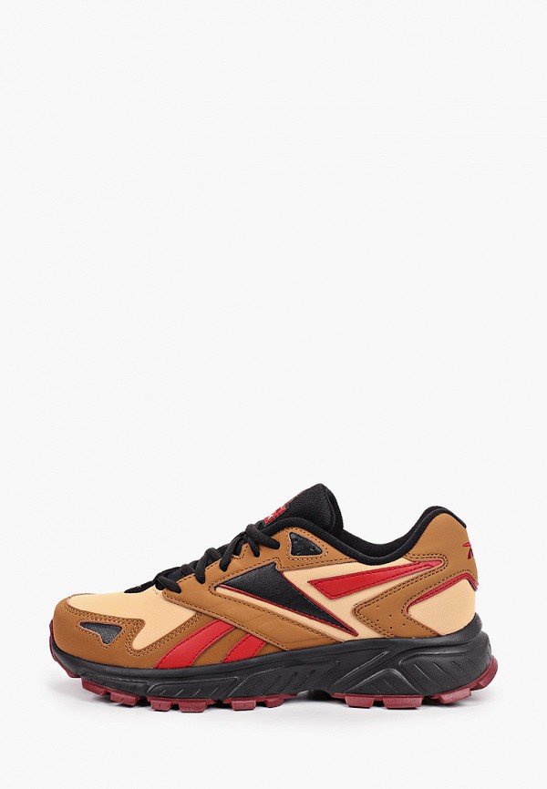 женские низкие кроссовки reebok classic, коричневые
