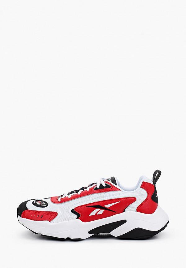 женские низкие кроссовки reebok classic, красные