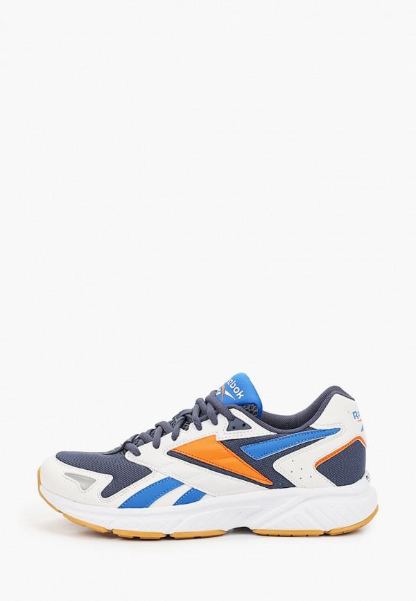 женские низкие кроссовки reebok classic, синие
