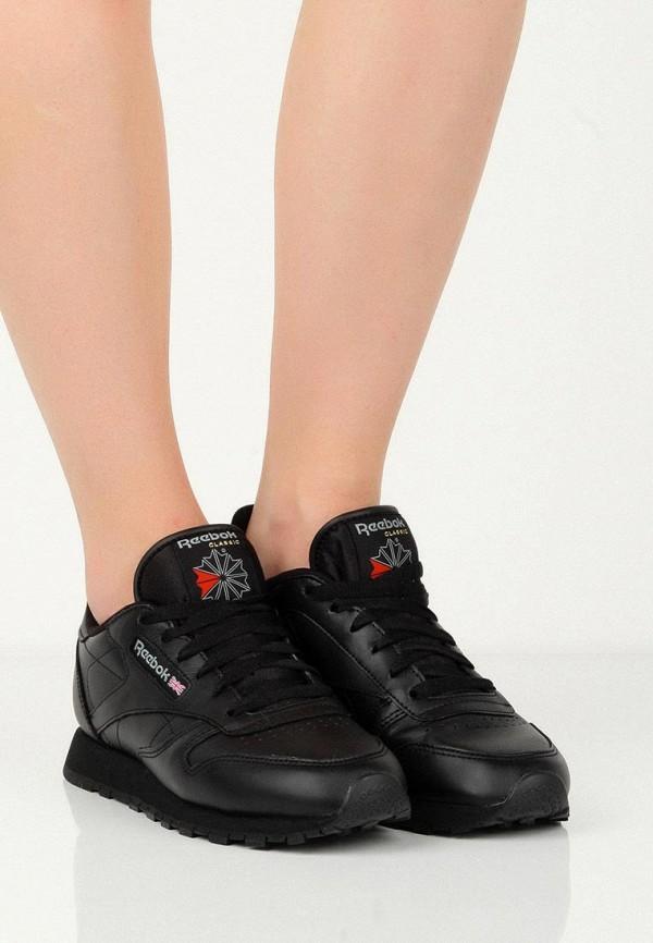 Фото 8 - женские кроссовки Reebok Classics черного цвета