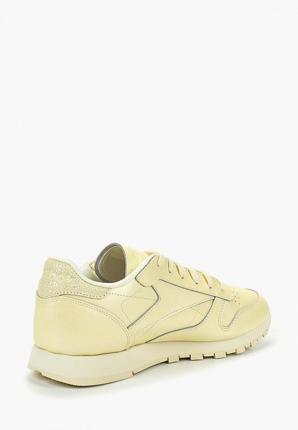 Фото 2 - женские кроссовки Reebok Classics желтого цвета
