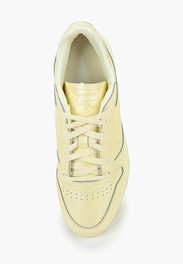 Фото 4 - женские кроссовки Reebok Classics желтого цвета