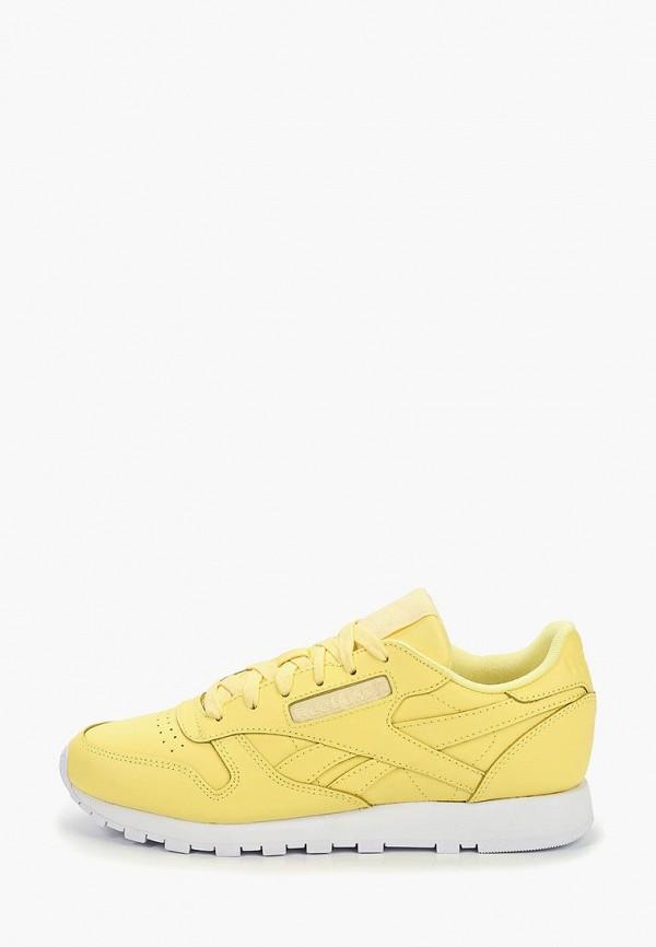 женские кроссовки reebok, желтые