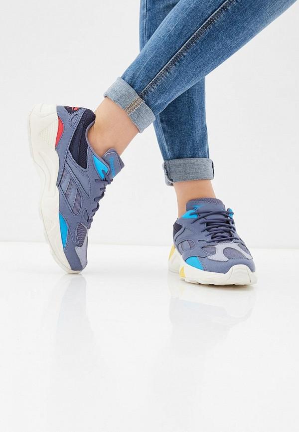 Фото 6 - женские кроссовки Reebok Classics синего цвета