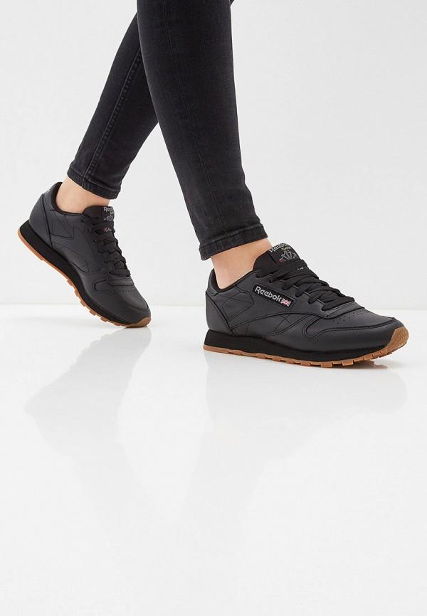 Фото 6 - женские кроссовки Reebok Classics черного цвета