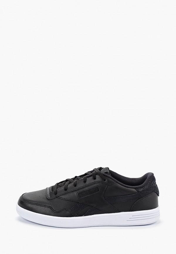 Фото - женские кроссовки Reebok Classics черного цвета