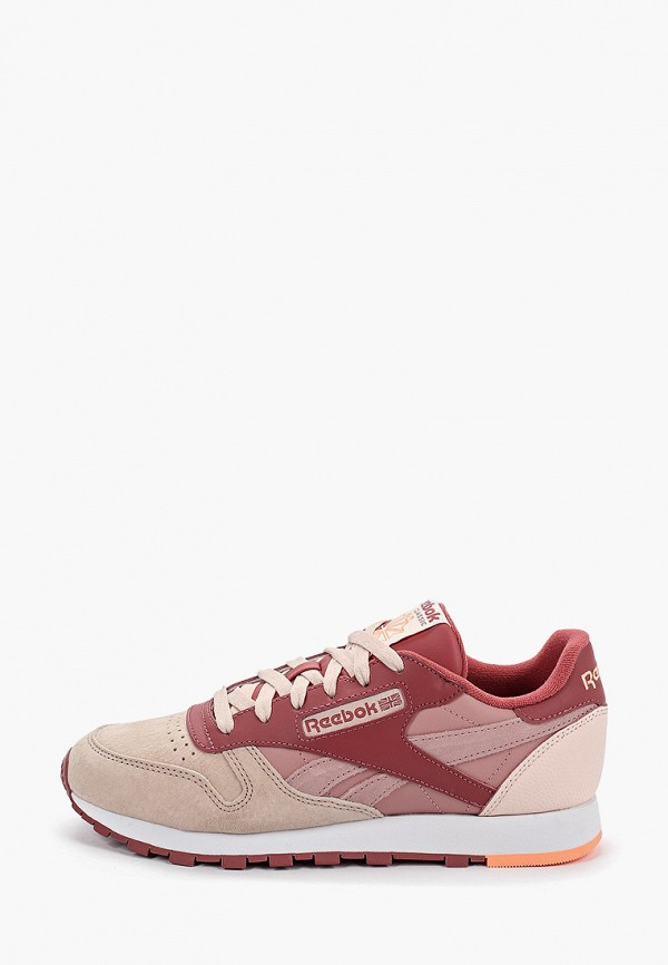 Фото - женские кроссовки Reebok Classics розового цвета