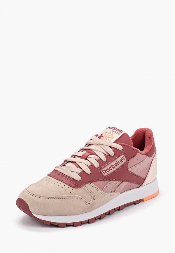Фото 2 - женские кроссовки Reebok Classics розового цвета