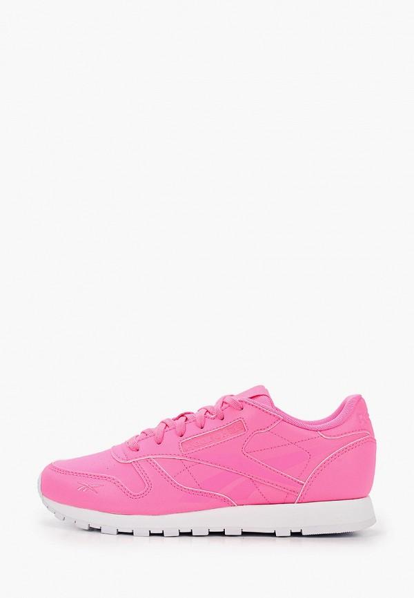 женские кроссовки reebok classic, розовые
