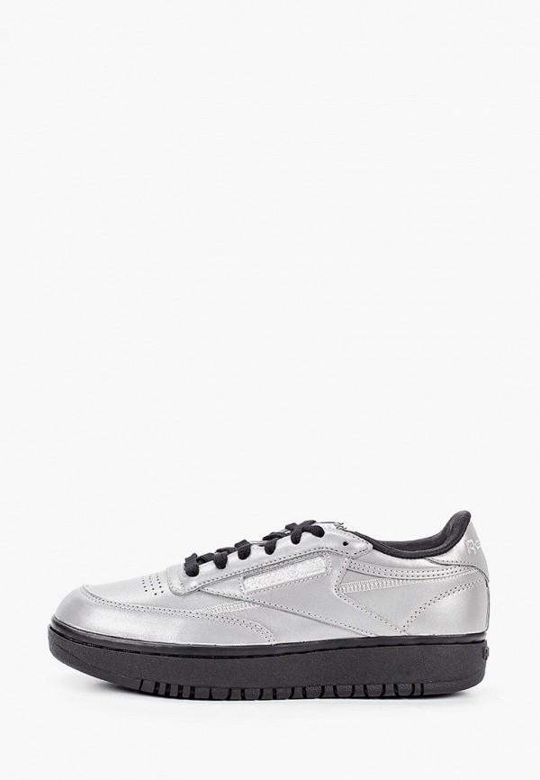 женские кроссовки reebok classic, серебряные