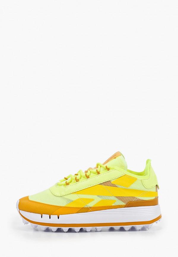 женские низкие кроссовки reebok classic, желтые