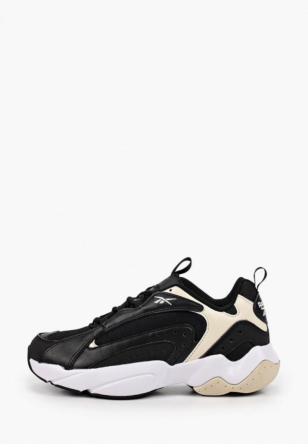 женские низкие кроссовки reebok classic, черные