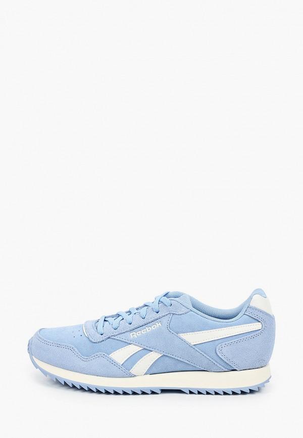 женские низкие кроссовки reebok classic, голубые