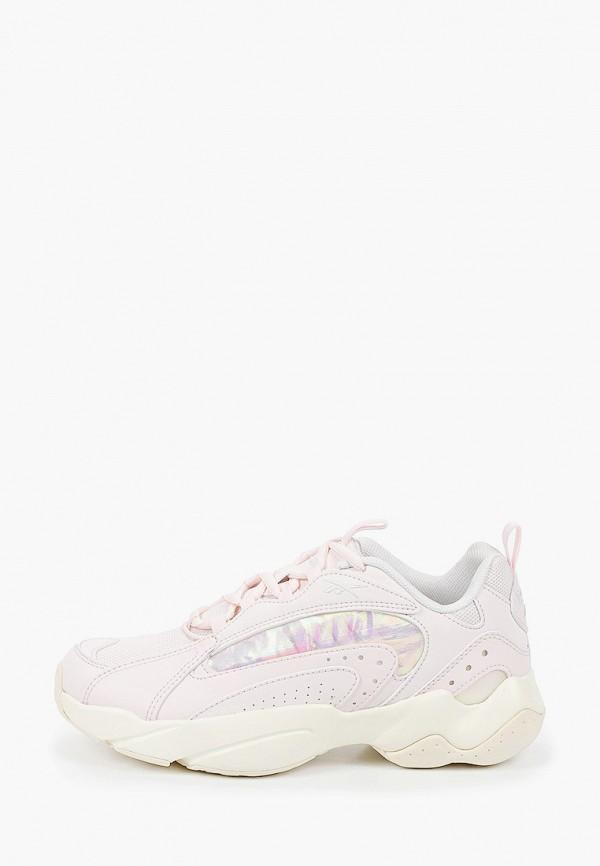 женские низкие кроссовки reebok classic, розовые