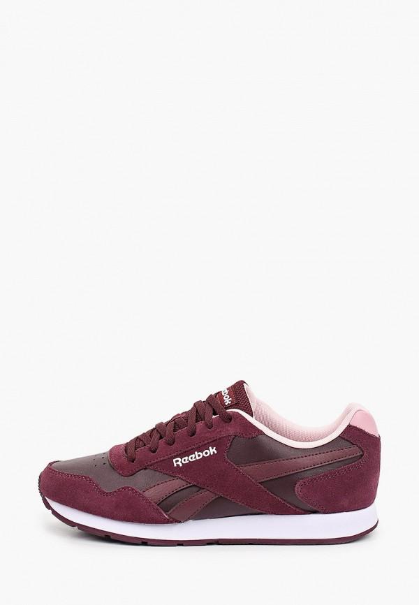 женские низкие кроссовки reebok classic, фиолетовые