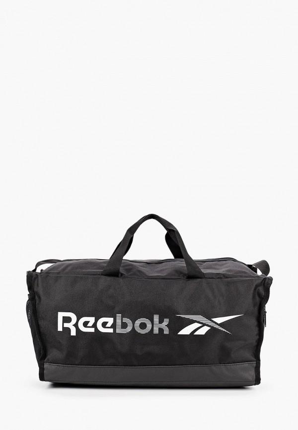 женская спортивные сумка reebok, черная